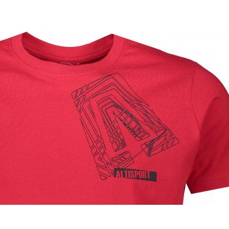 Pánské triko ALTISPORT ALM000JN790 ČERVENÁ