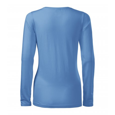 Dámské triko s dlouhým rukávem MALFINI SLIM 139 NEBESKY MODRÁ