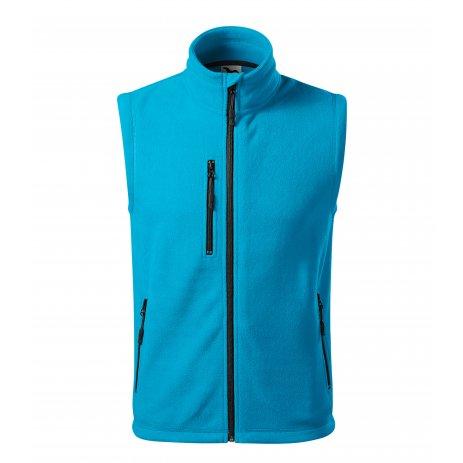Pánská fleecová vesta MALFINI EXIT 525 TYRKYSOVÁ