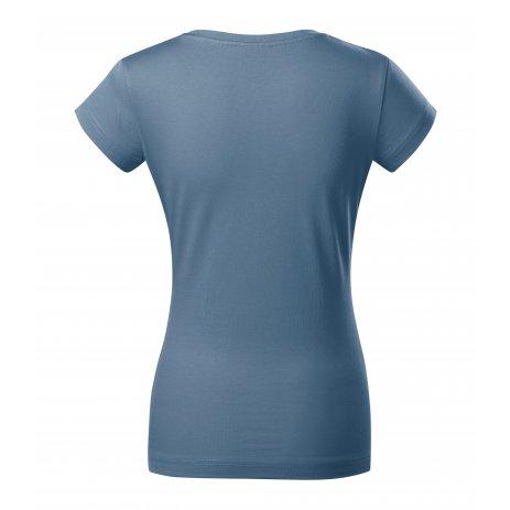 Dámské triko MALFINI FIT V-NECK 162 DENIM