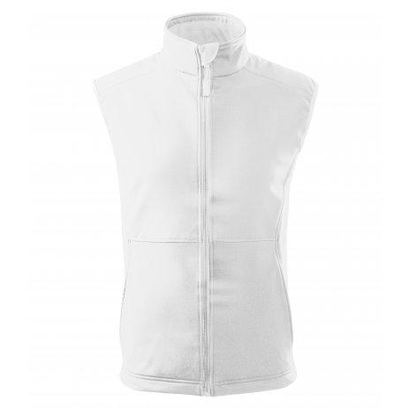 Pánská softshellová vesta MALFINI VISION 517 BÍLÁ