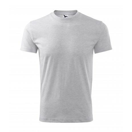 Pánské triko MALFINI CLASSIC 101 SVĚTLE ŠEDÝ MELÍR