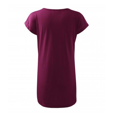 Dámské prodloužené triko MALFINI LOVE 123 FUCHSIOVÁ
