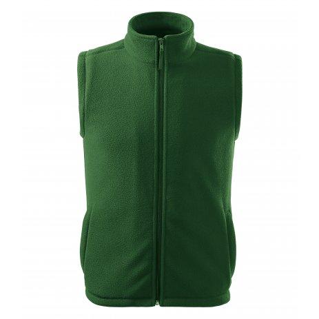 Pánská fleecová vesta RIMECK NEXT 518 LAHVOVĚ ZELENÁ