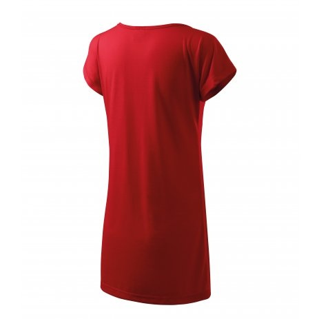 Dámské prodloužené triko MALFINI LOVE 123 ČERVENÁ