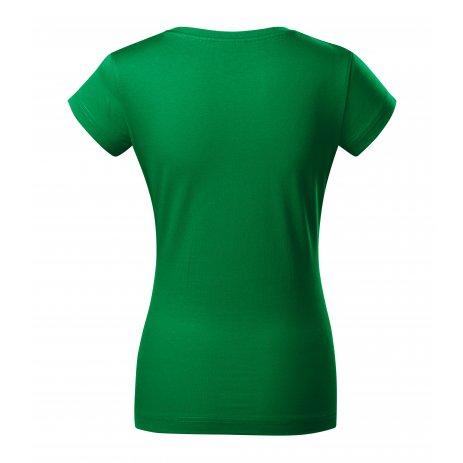 Dámské triko MALFINI FIT V-NECK 162 STŘEDNĚ ZELENÁ