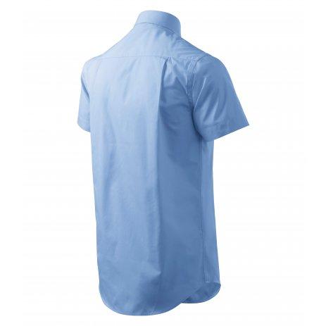 Pánská košile s krátkým rukávem MALFINI CHIC 207 NEBESKY MODRÁ