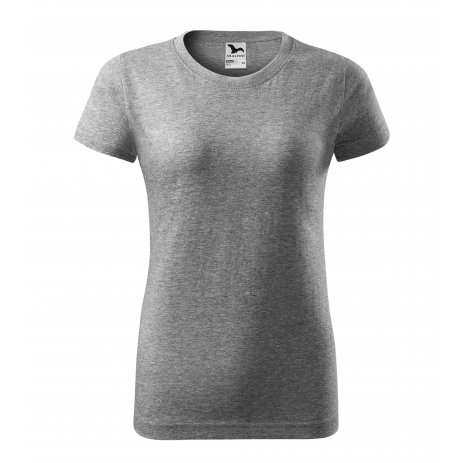 Dámské triko MALFINI BASIC 134 TMAVĚ ŠEDÝ MELÍR