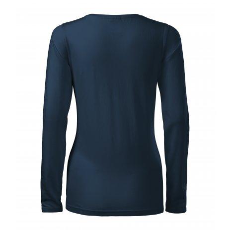 Dámské triko s dlouhým rukávem MALFINI SLIM 139 NÁMOŘNÍ MODRÁ
