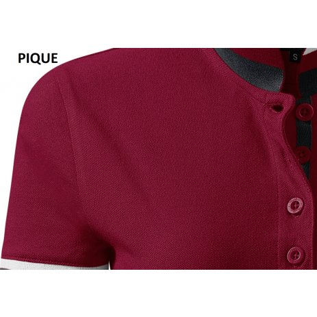 Dámské triko s límečkem MALFINI PREMIUM COLLAR UP 257 GARNET