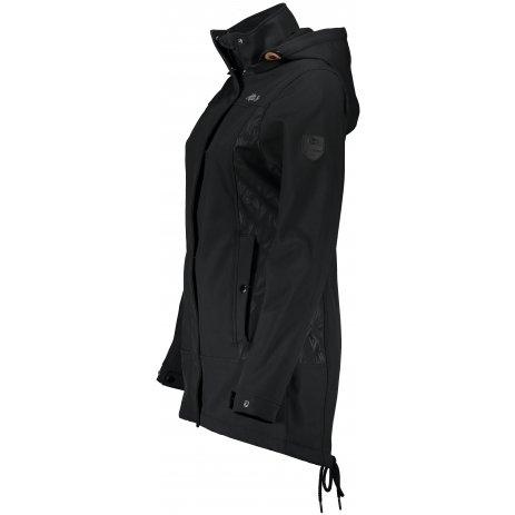 Dámský softshellový kabát ALTISPORT WERKA LCTS140 ČERNÁ