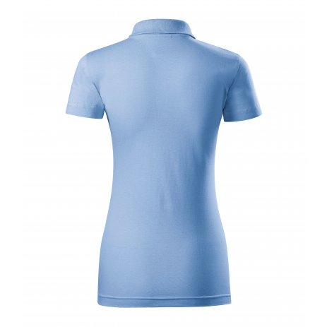 Dámské triko s límečkem MALFINI SINGLE J. 223 NEBESKY MODRÁ