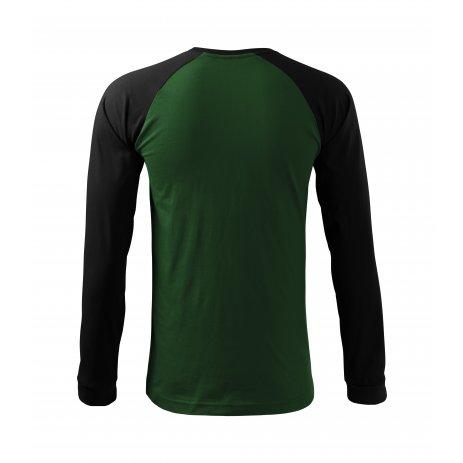 Pánské triko s dlouhým rukávem MALFINI STREET LS 130 LAHVOVĚ ZELENÁ