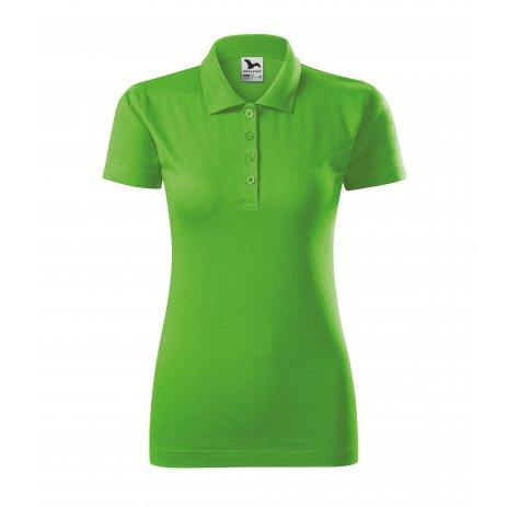 Dámské triko s límečkem MALFINI SINGLE J. 223 APPLE GREEN
