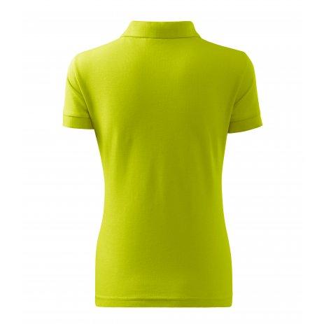 Dámské triko s límečkem MALFINI COTTON 213 LIMETKOVÁ