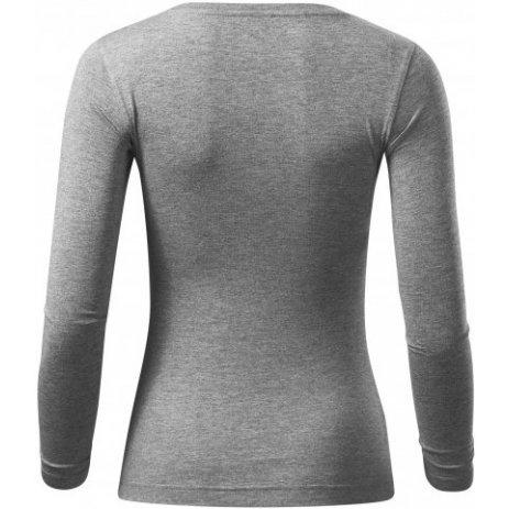 Dámské triko s dlouhým rukávem MALFINI FIT-T LS 169 TMAVĚ ŠEDÝ MELÍR
