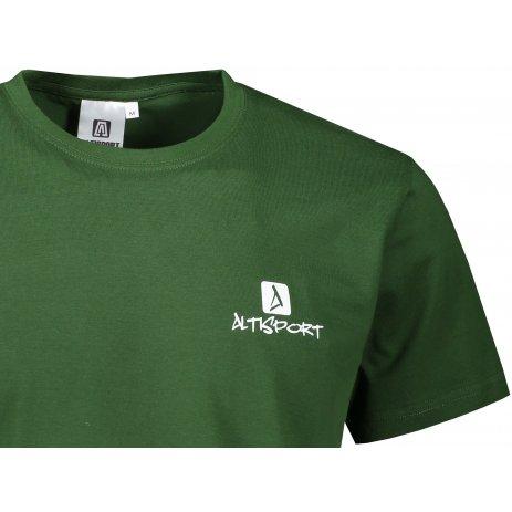 Pánské triko ALTISPORT ALM008129 LAHVOVĚ ZELENÁ