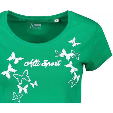 Dámské triko ALTISPORT ALW011F61 STŘEDNĚ ZELENÁ