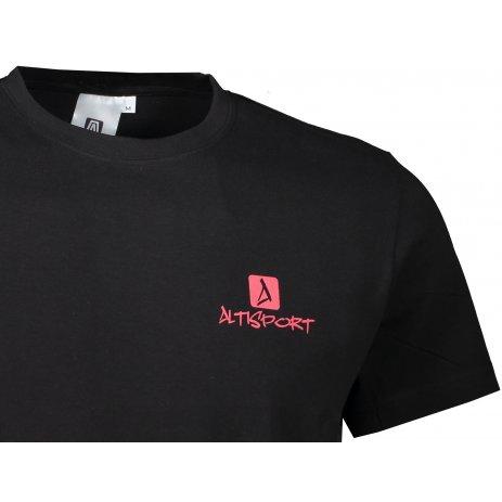 Pánské triko ALTISPORT ALM008129 ČERNOČERVENÁ