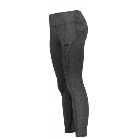 Dámské elastické kalhoty 4F NOSD4-SPDF311A DEEP BLACK MELANGE