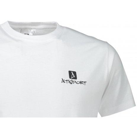 Pánské triko ALTISPORT ALM008129 BÍLOČERNÁ