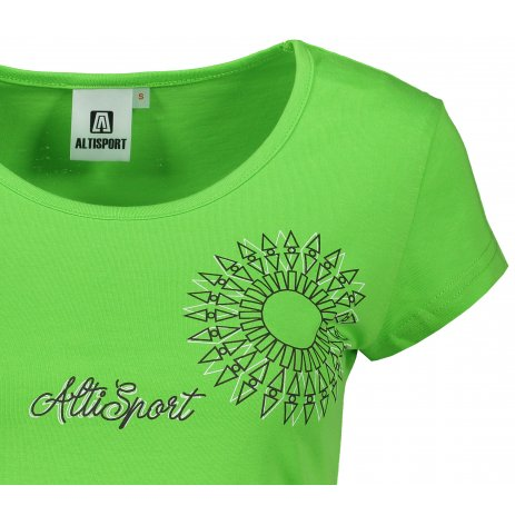 Dámské triko ALTISPORT ALW024122 APPLE GREEN