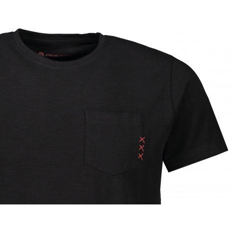 Pánské triko s krátkým rukávem ALPINE PRO OLAV MTSS530 ČERNÁ