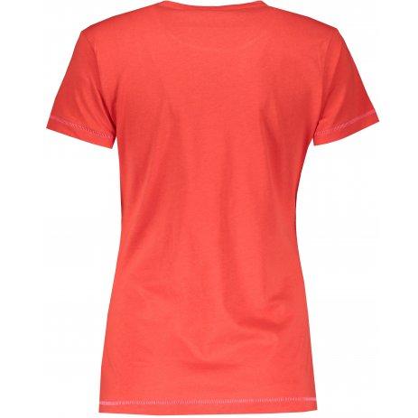 Dámské triko SAM 73 CERINA LTSS681 TMAVĚ ČERVENÁ