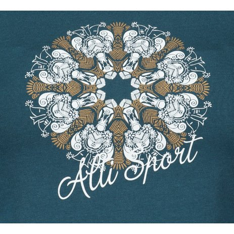 Dámské triko ALTISPORT ALW028122 PETROLEJOVÁ