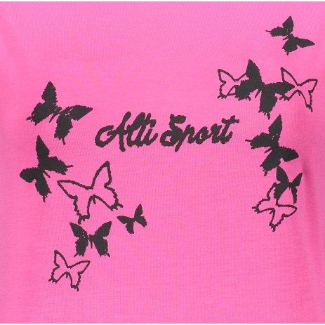 Dámské prodloužené triko ALTISPORT ALW011123 PURPUROVÁ
