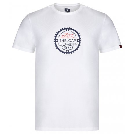 Pánské triko LOAP ALGER CLM2073 BÍLÁ