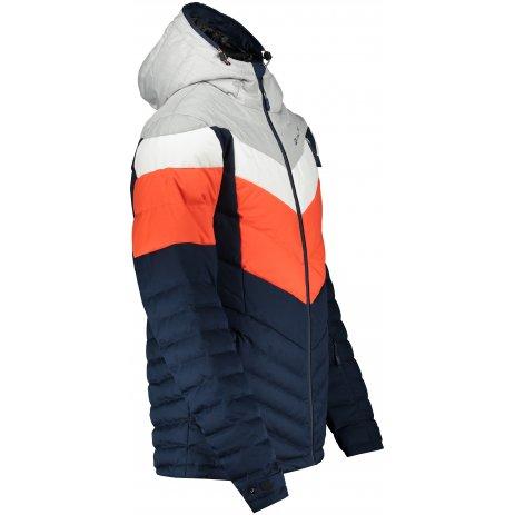Pánská péřová bunda ALPINE PRO NEITH 3 MJCS451 ORANŽOVÁ