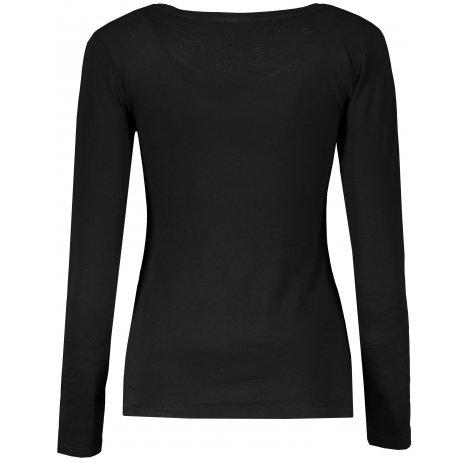 Dámské triko s dlouhým rukávem ALTISPORT ALW001169 ČERNOBÍLÁ