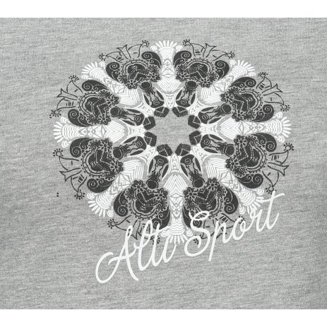 Dámské triko ALTISPORT ALW028122 TMAVĚ ŠEDÝ MELÍR