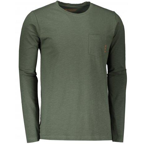 Pánské triko s dlouhým rukávem ALPINE PRO MEGAN MTSS528 ZELENÁ
