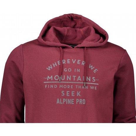 Pánská mikina ALPINE PRO MELIN MSWS262 FIALOVÁ