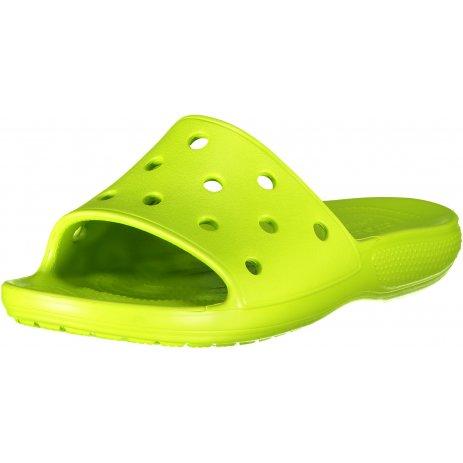 Pánské pantofle CROCS CLASSIC SLIDE 206121-3TX LIME PUNCH