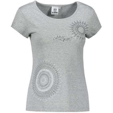 Dámské triko ALTISPORT ALW024122 TMAVĚ ŠEDÝ MELÍR