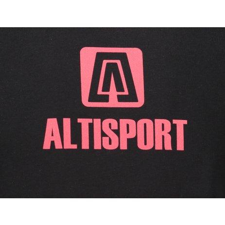 Pánské triko ALTISPORT ALM006131 ČERNOČERVENÁ
