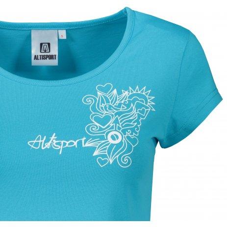 Dámské triko ALTISPORT ALW019122 TYRKYSOVÁ
