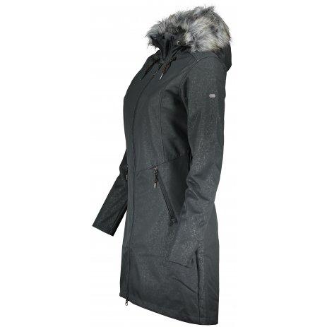 Dámský softshellový kabát ALPINE PRO PRISCILLA 4 INS. LCTS100 TMAVĚ ŠEDÁ
