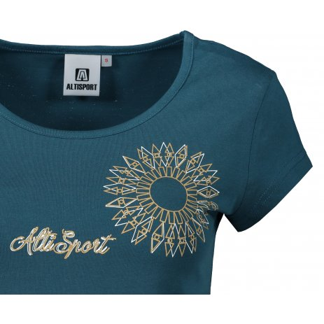 Dámské triko ALTISPORT ALW024122 PETROLEJOVÁ