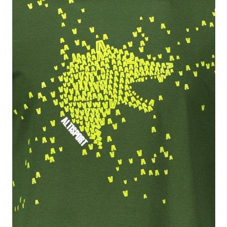 Pánské triko ALTISPORT ALM022129 LAHVOVĚ ZELENÁ