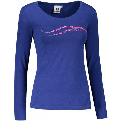 Dámské triko s dlouhým rukávem ALTISPORT ALW001169 KRÁLOVSKÁ MODRÁ