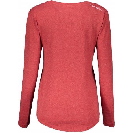 Dámské triko s dlouhým rukávem ALPINE PRO IRISA LTSS660 ČERVENÁ