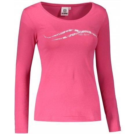 Dámské triko s dlouhým rukávem ALTISPORT ALW001169 MALINOVOBÍLÁ