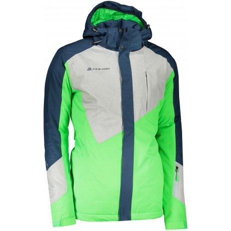 Pánská lyžařská bunda ALPINE PRO SARDAR 4 MJCS450 ZELENÁ