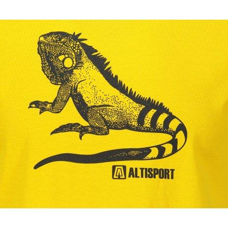 Pánské triko ALTISPORT ALM038F29 ŽLUTÁ