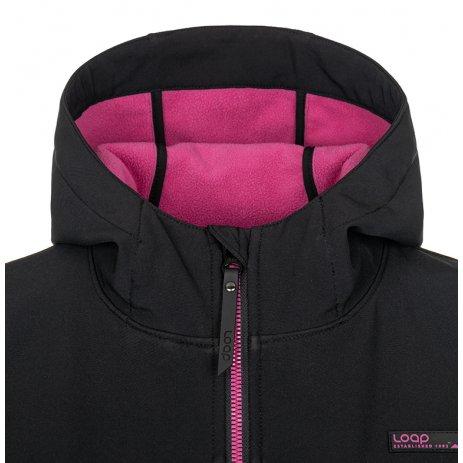 Dámský softshellový kabát LOAP LYANA SFW2018 ČERNÁ