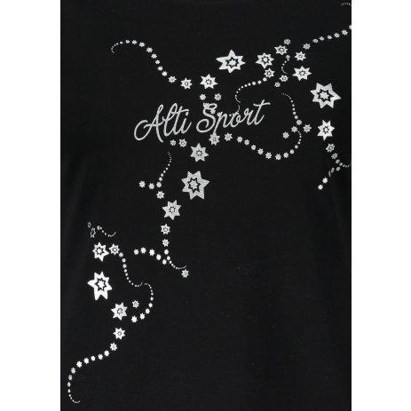 Dámské triko ALTISPORT ALW009F61 ČERNOSTŘÍBRNÁ